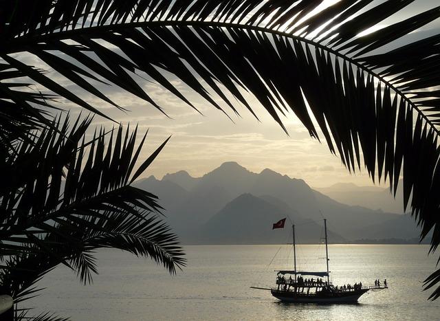 Antalya sea sun